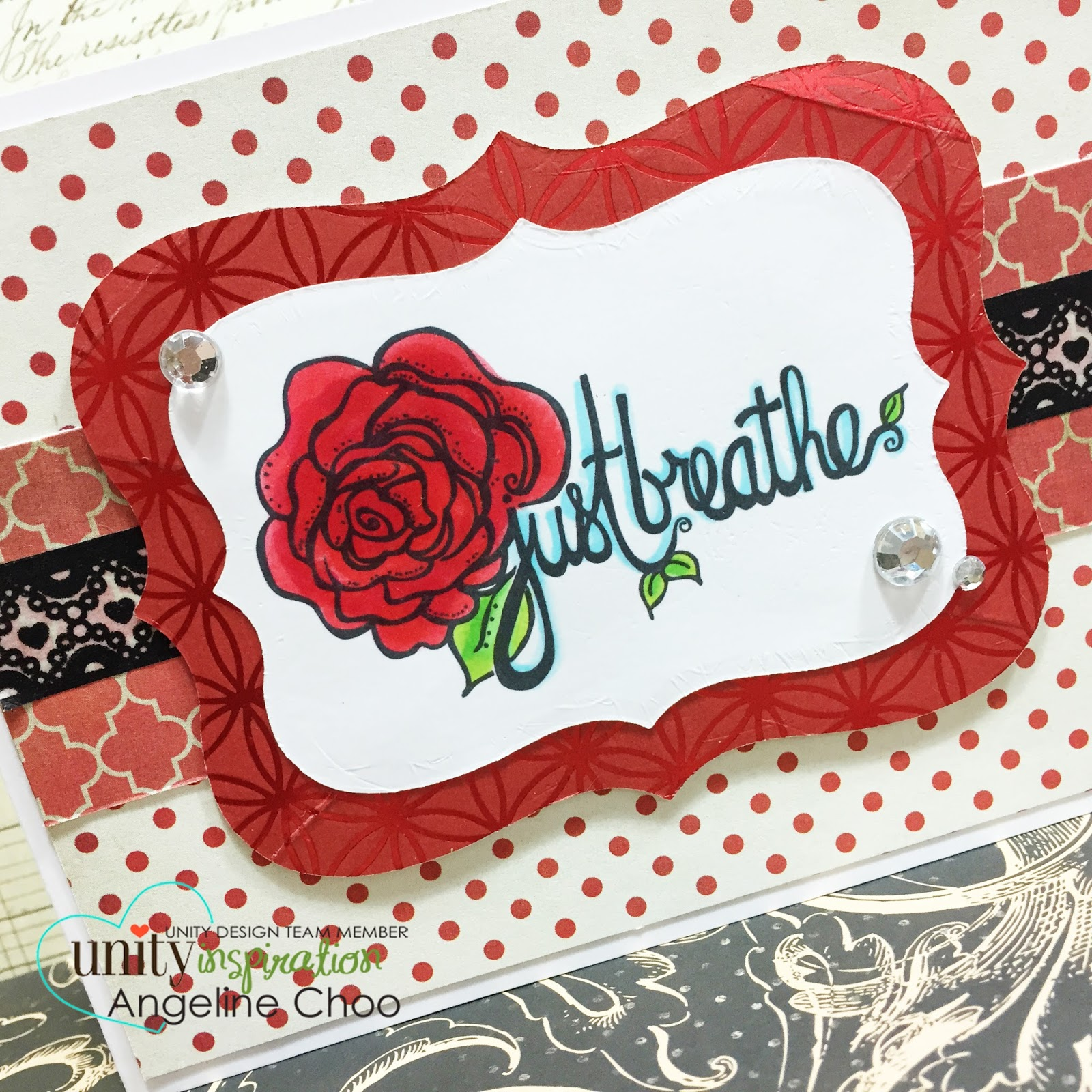 ScrappyScrappy: Just breathe #scrappyscrappy #unitystamp #card #washitape #copic