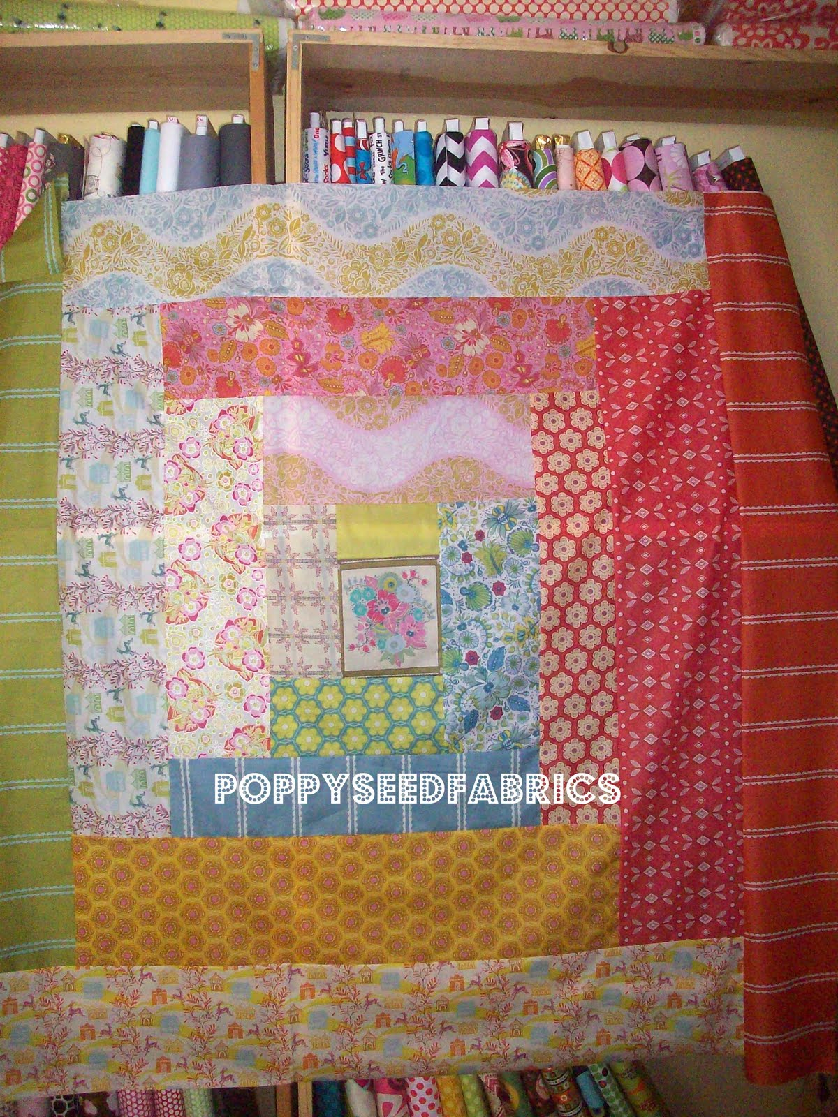 Poppyseed Fabrics Around The Block Quilt Top Tutorial Using