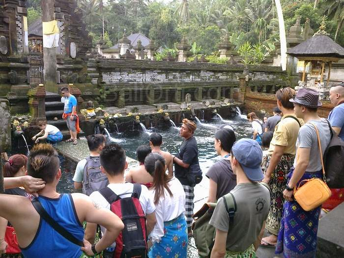 The situation in Tirta Empul Temple Gianyar, Bali Indonesia