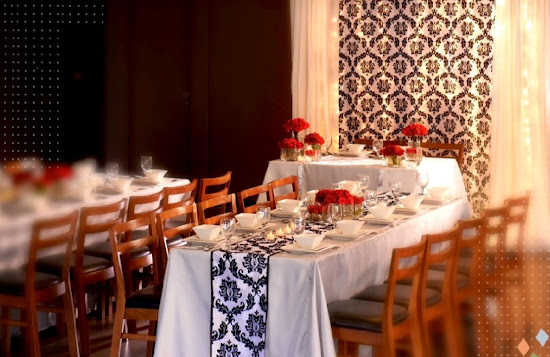 Classic Glamour wedding motif at Max's Restaurant