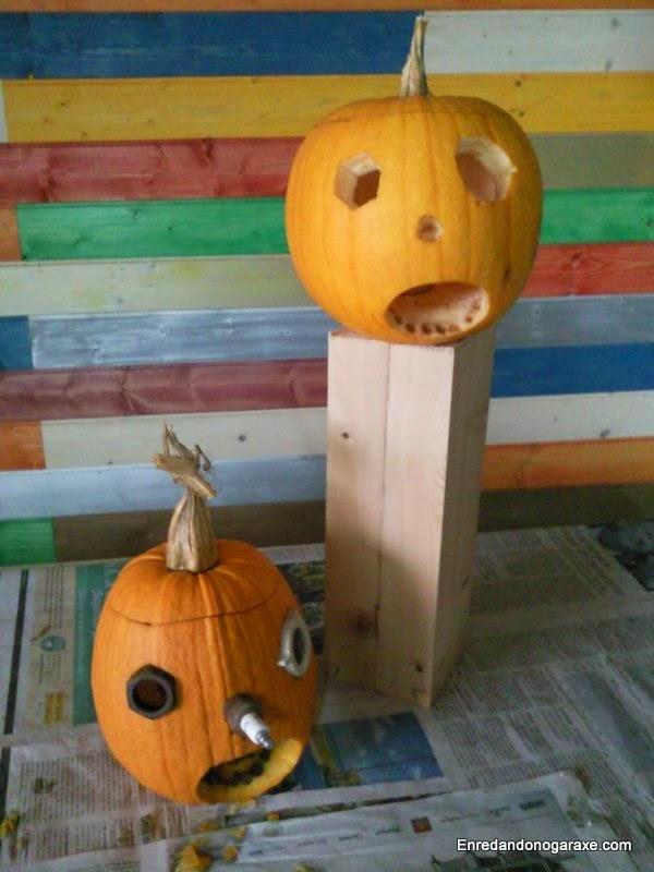 Dos calabazas de Samain. Enredandonogaraxe.com