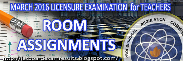 March 2016 LET Board Exam Results / Teachers Licensure Examination Results