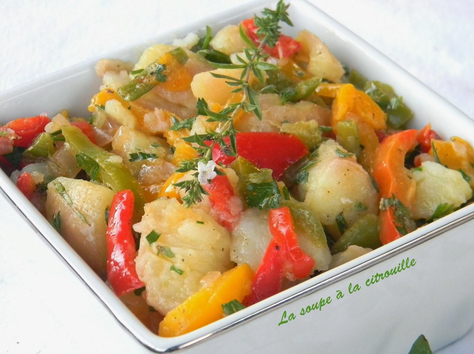 La soupe la citrouille salade de pommes de terre aux poivrons marin es - Salade de poivron grille ...