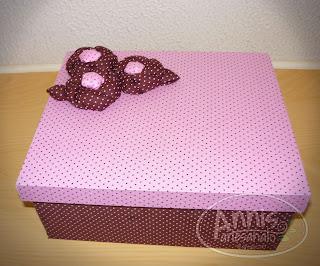 annis artesanato caixa rosa marrom