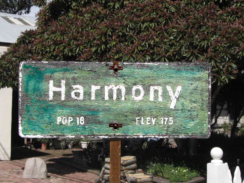 Musical Terms in the Marketplace - Harmony California sign
