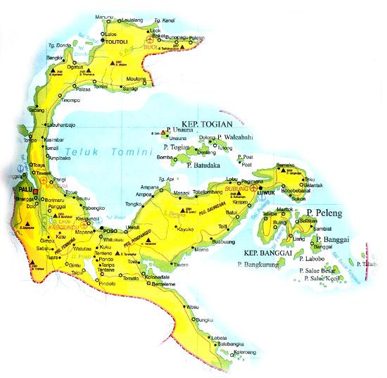 Mudin Peta Sulawesi Tengah Gambar Tenga