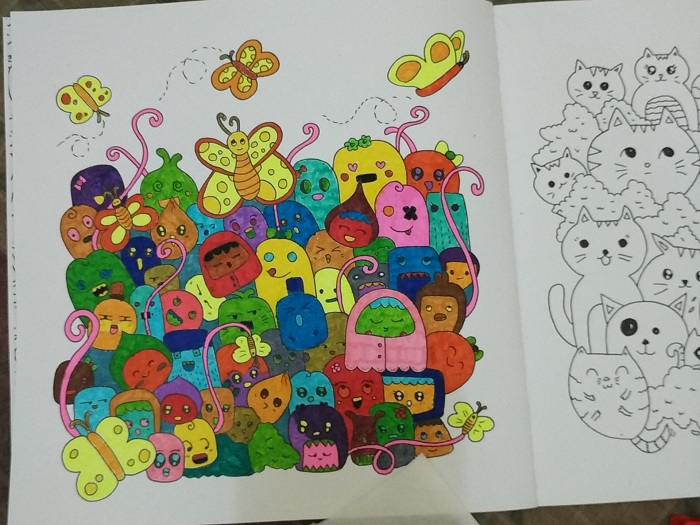 Cara Sederhana Mewarnai Gambar Doodle