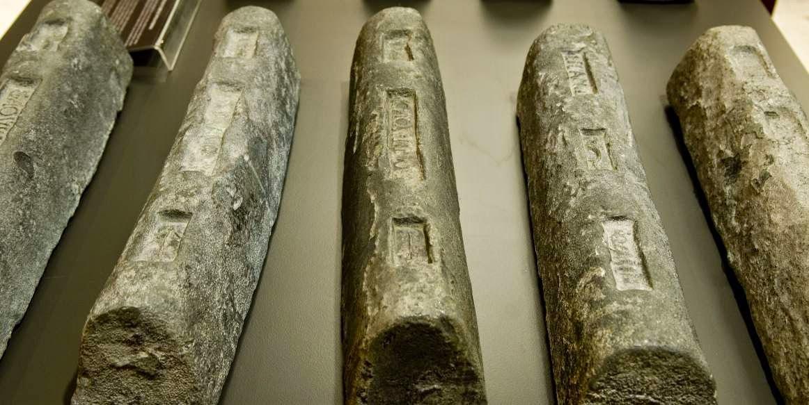 Cosas en la antigua Roma: lingotes de plomo