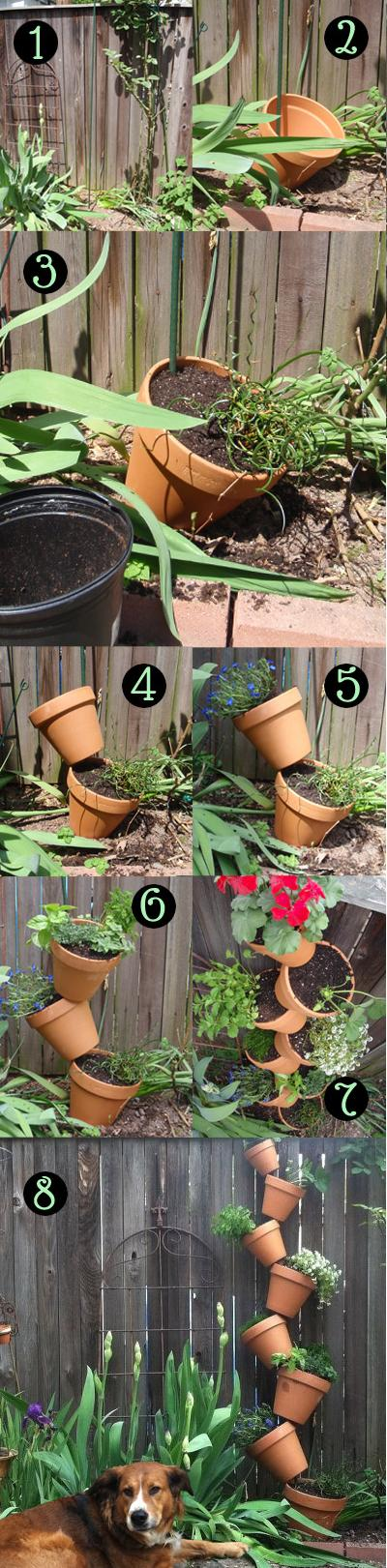 Create a Vertical Garden with Terracotta Pots
