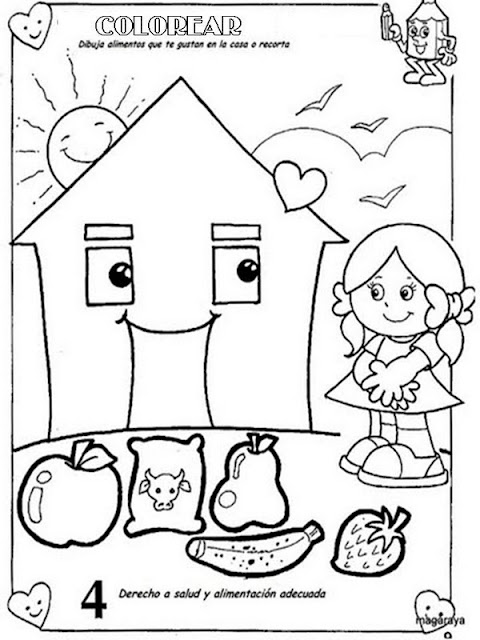 LAMINAS PARA COLOREAR - COLORING PAGES: Deberes y Derechos del ...