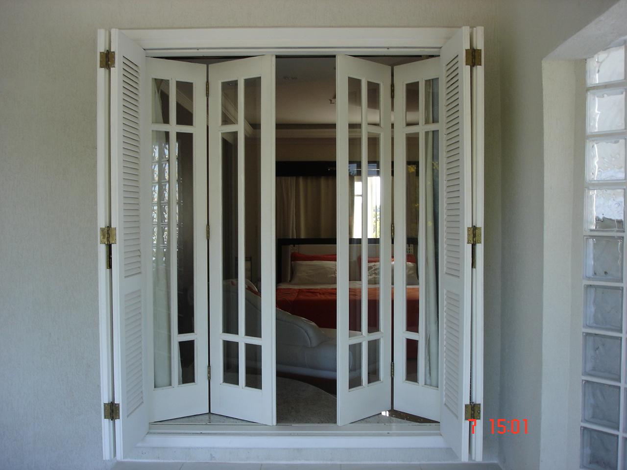 #5E4C3B janela sanfonada de madeira 2 Quotes 624 Janelas Madeira Arco