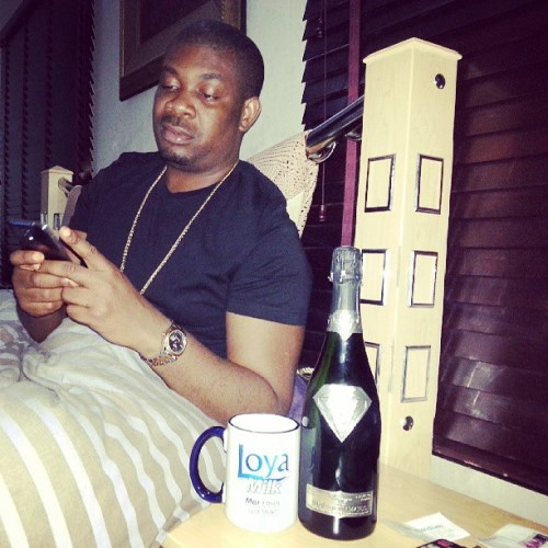 #Goûtdediamants: Don Jazzy gets the £1.2million champagne from Alexander Amosu