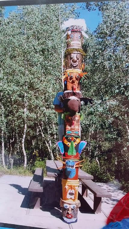 Bucket Totem Pole