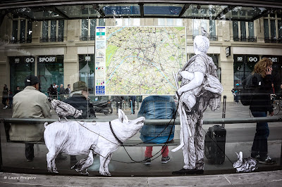 street art, levalet - paris