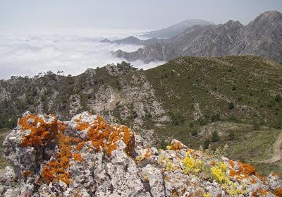 Sierra de Almijara vanaf La Cadena