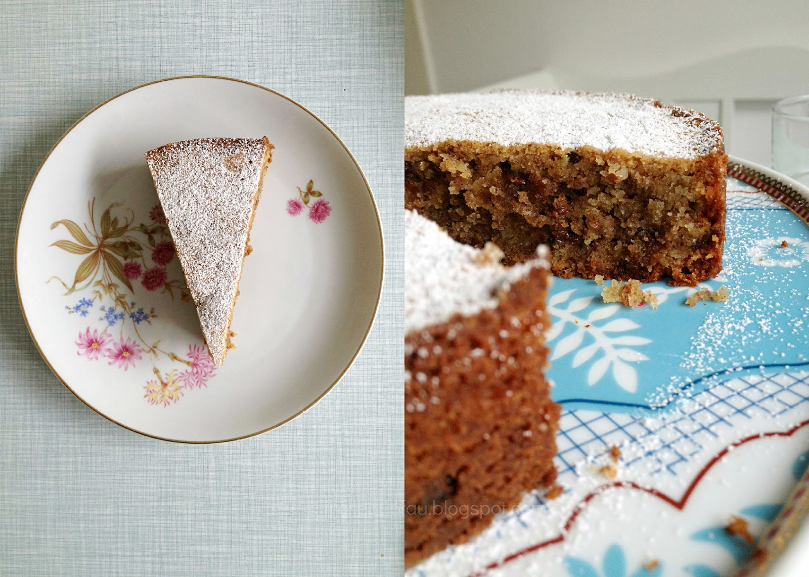 Kuchen, Rezept, Kaffeeklatsch, Nusskuchen, Mandelkuchen, lecker