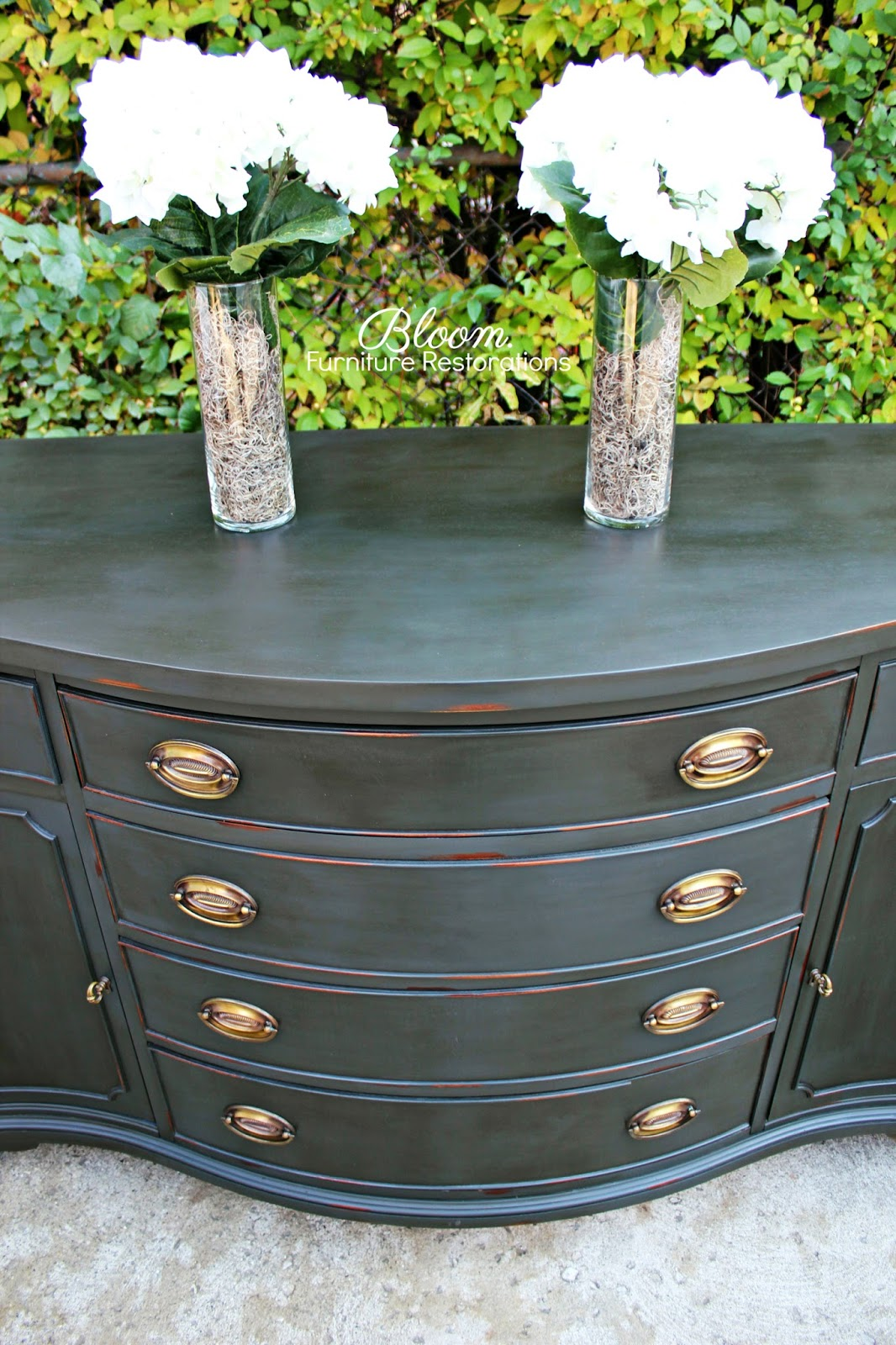 bloom client project dramatic buffet in chalk paint. Black Bedroom Furniture Sets. Home Design Ideas