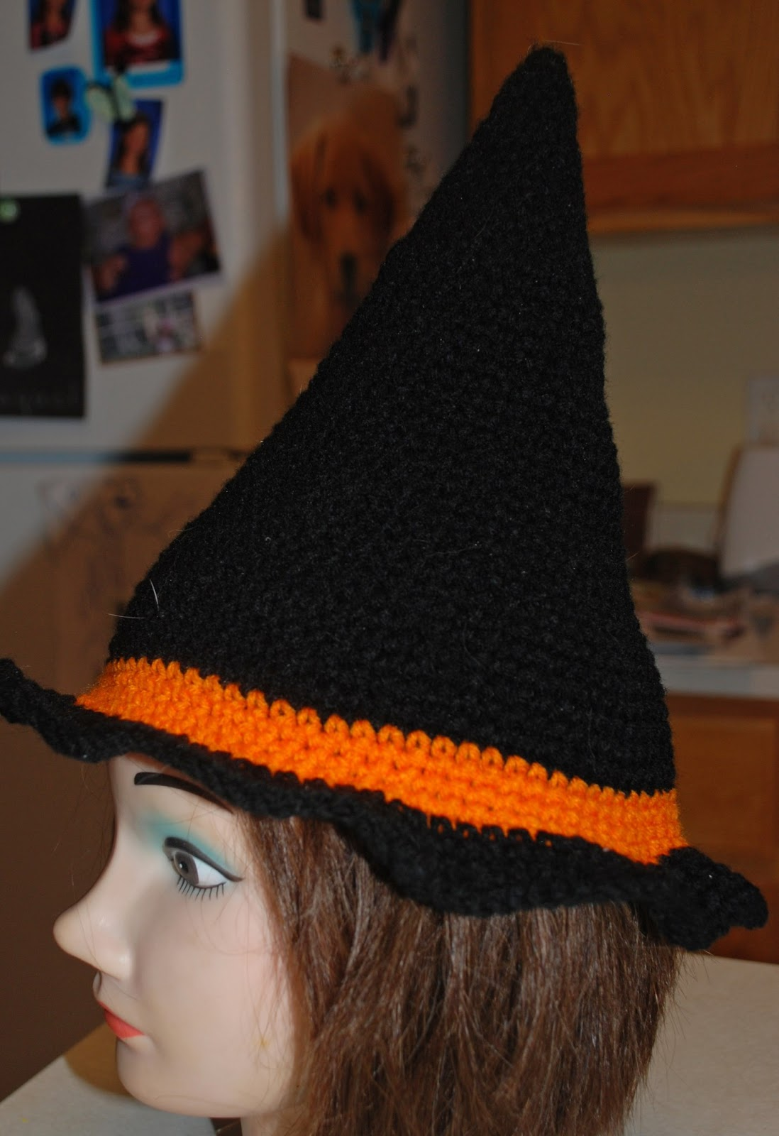 Crochet Pattern For Baby Witch Hat : Amys Crochet Creative Creations: Crochet Witch Hat