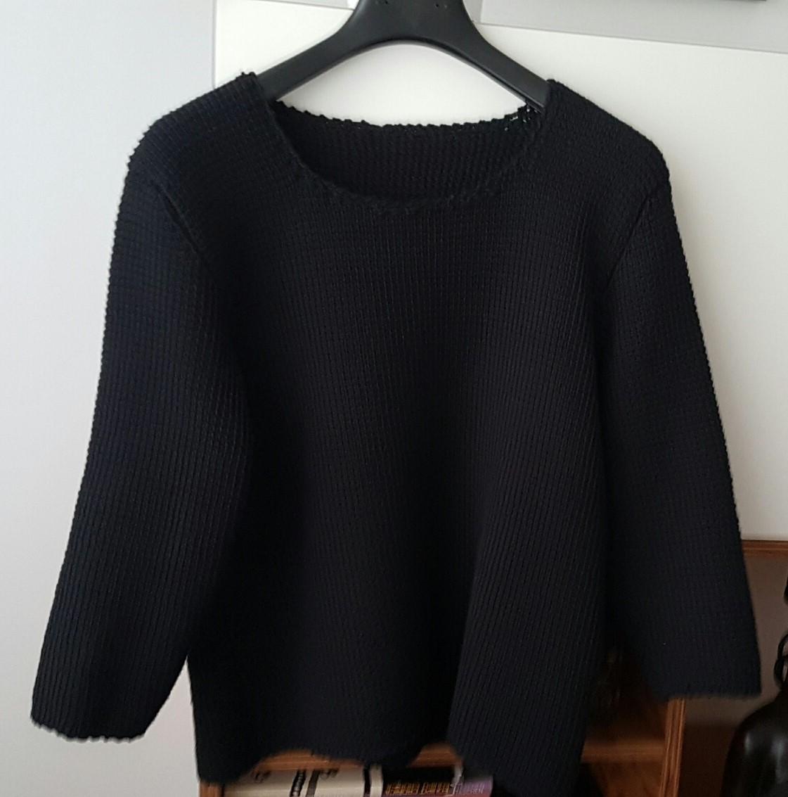 Jubilocios jersey mujer a punto tunecino - Como hacer un jersey de punto ...