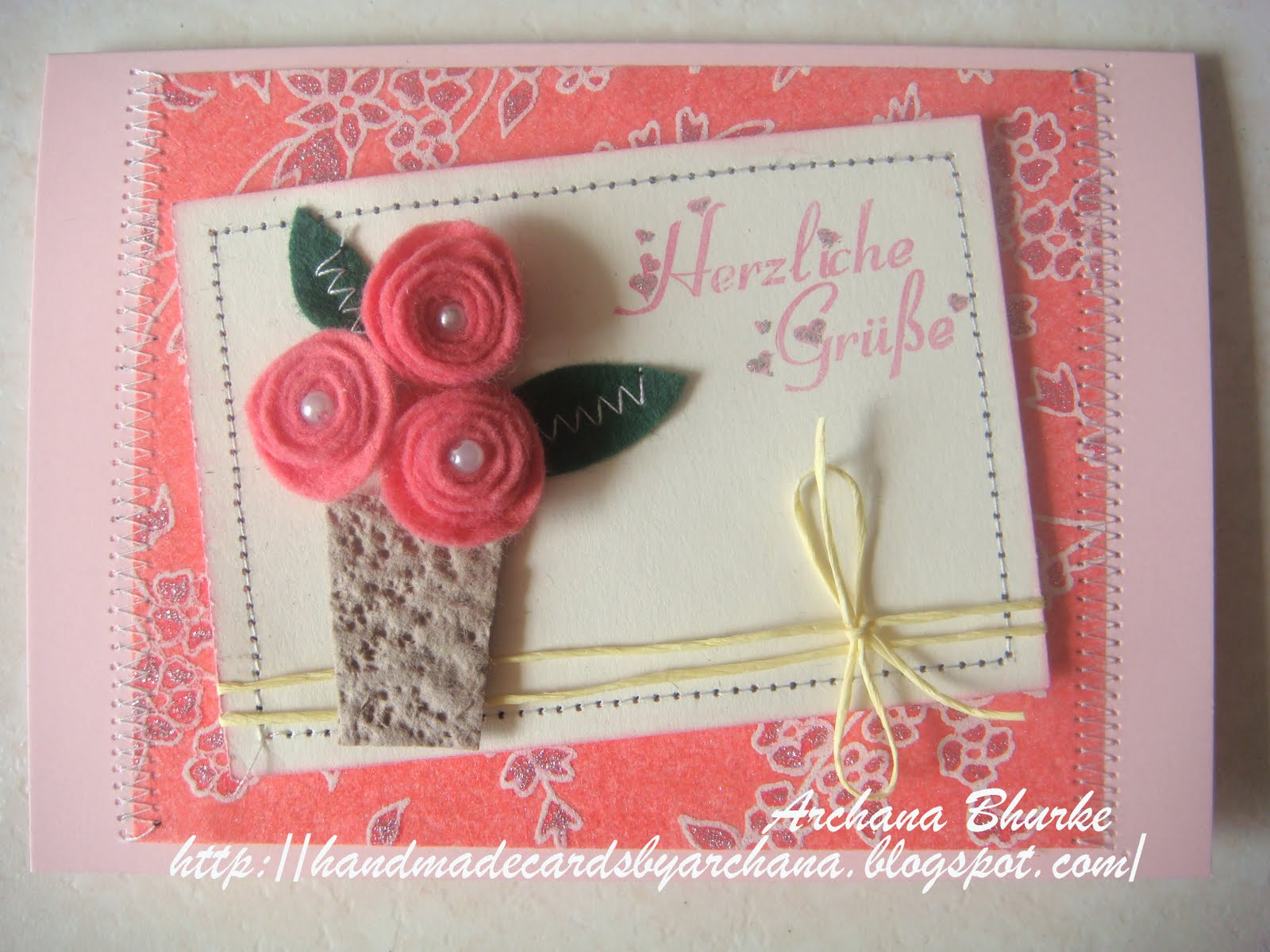 Handmade Cards By Archana Fabulous Felt