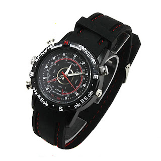 8GB Spy Watch Video Recorder-Hidden Camera DVR Waterproof Camcorder 1280x960 bk