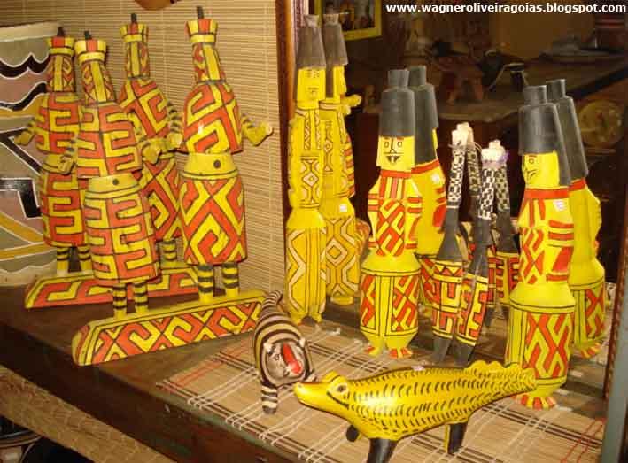 Artesanato Indios Xingu ~ Educaç u00e3o Ambiental em Goiás Abril 2012