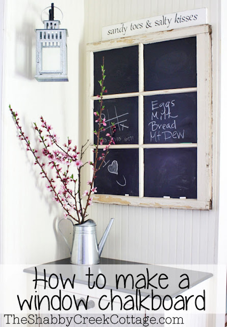 how to clean off chalkboard