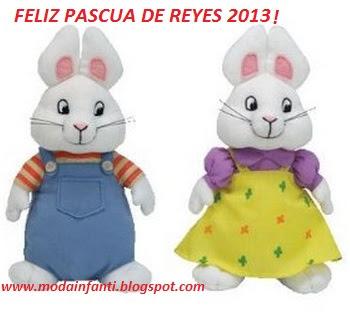 FELIZ PASCUA DE REYES 2013 LES SALUDA MODA INFANTIL ROPA DE NIÑOS Y NIÑAS