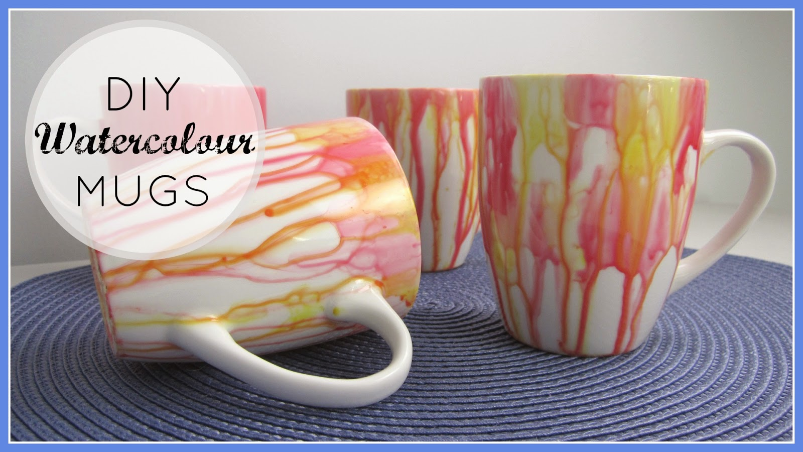 Stylenovice diy decor gift watercolour mugs for How to paint ceramic mugs at home