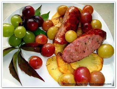 Polska na chipsach z winogronami.
