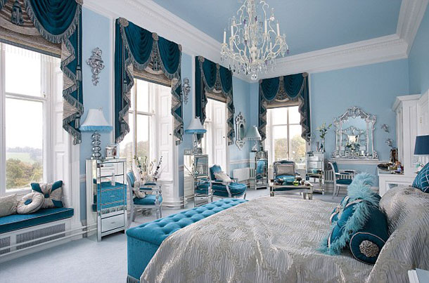 Elegant Blue Master Bedroom