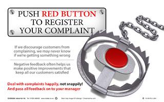 Customer feedback posters