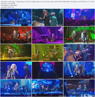 Lady Gaga - Performance with The Rolling Stones on One More Shot (2012) PPV 1080i HDT Free Download