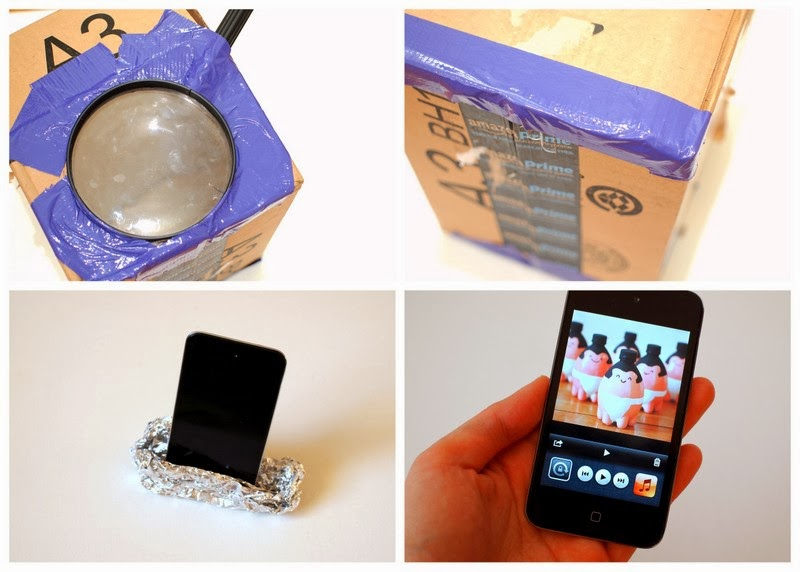 Steps to create a DIY Cardboard iPod Projector