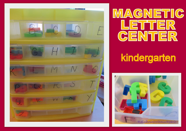 photo of: Magnetic Letter Center in Kindergarten