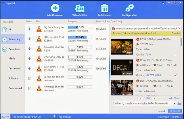 2 - Internet Download Manager Free alternate EagleGet