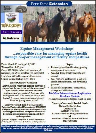 4-7 Equine Mgmt. Workshops