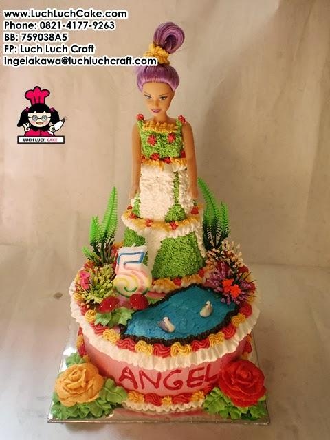 kue tart barbie cantik daerah surabaya - sidoarjo