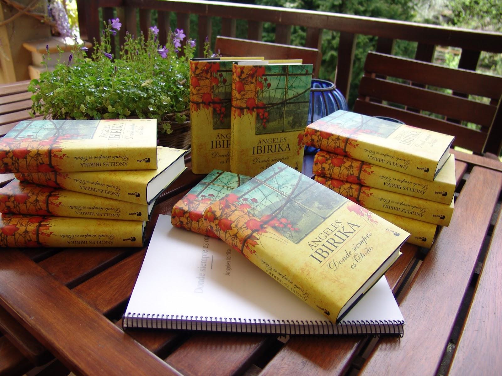 Donde siempre es otoño, de Ángeles Ibirika en manuscrito y editado.