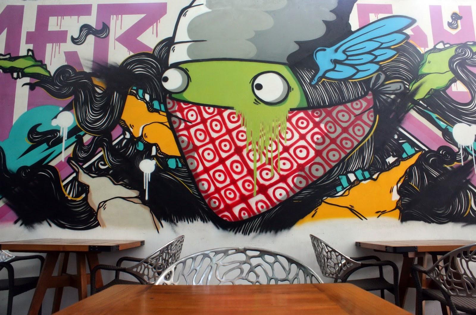 Graffiti restaurant hidangan dalam balutan seni