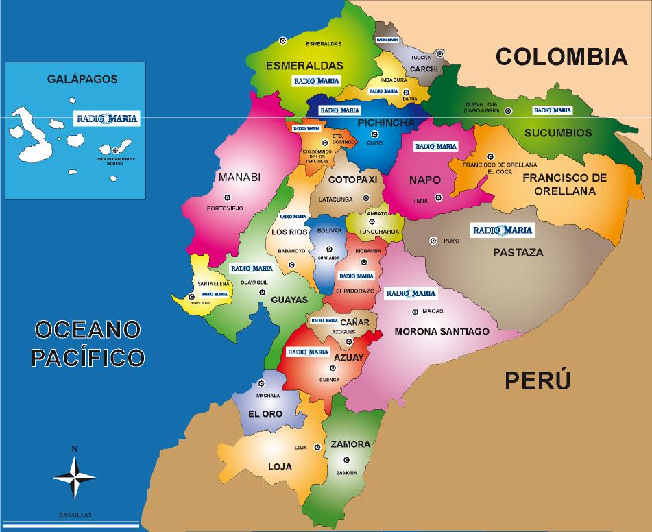 mapa del ecuador para pintar