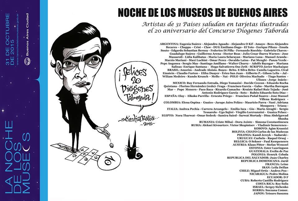 """""""Postales Ilustradas"""" - Museo de Humor Gráfico Diogenes Taborda - Argentina (2015)"""