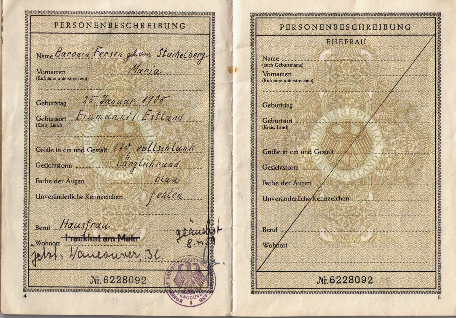 German Passport Template German Passport Garryosalud