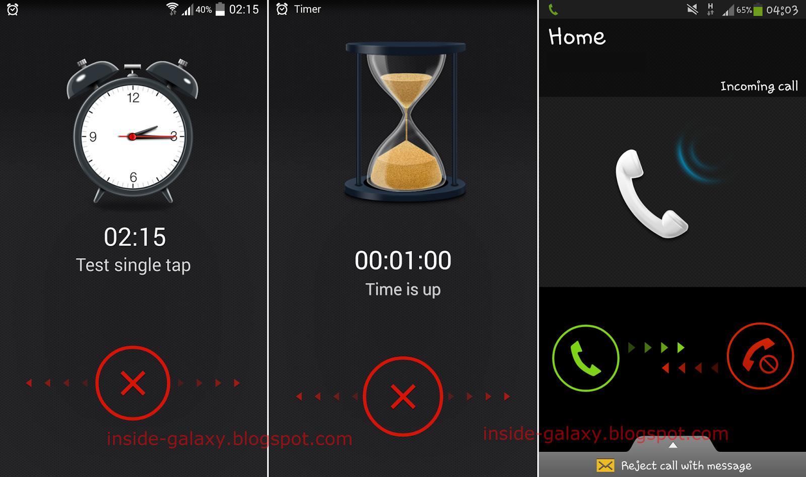Samsung Galaxy S4 Call Screen