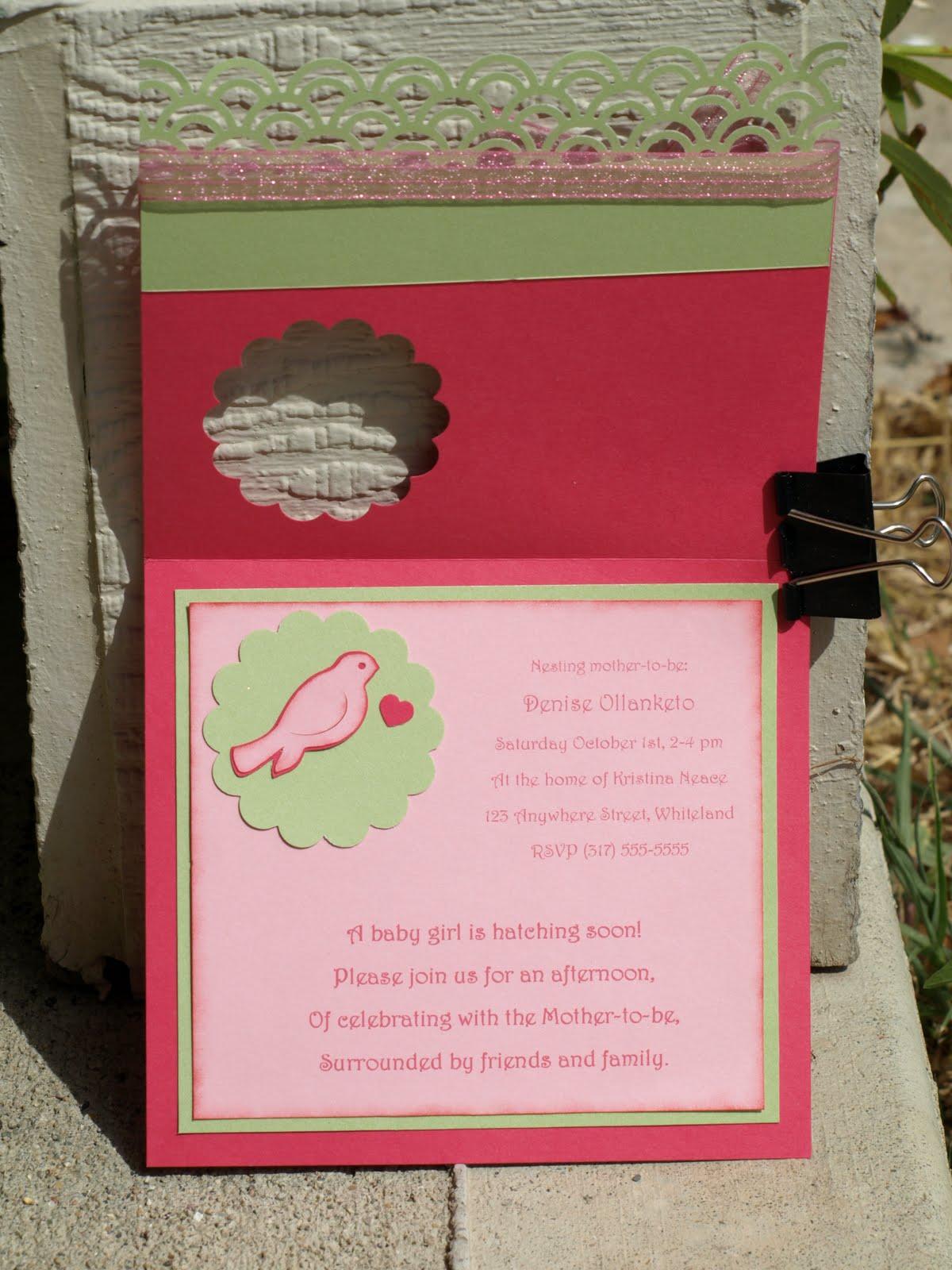 Happily Ever Crafty: Birdie Baby Shower Invitations