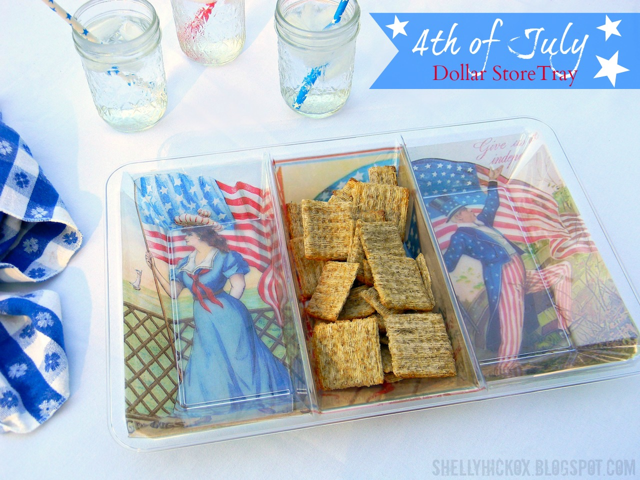 Stamptramp easy diy 4th of july tray with craft attitude