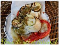 Couronne de légumes mozzarella et pesto