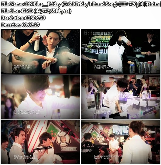 Download MV C.N Blue (씨엔블루) - Friday (T.G.I Friday's Brand Song) (HD 720p)