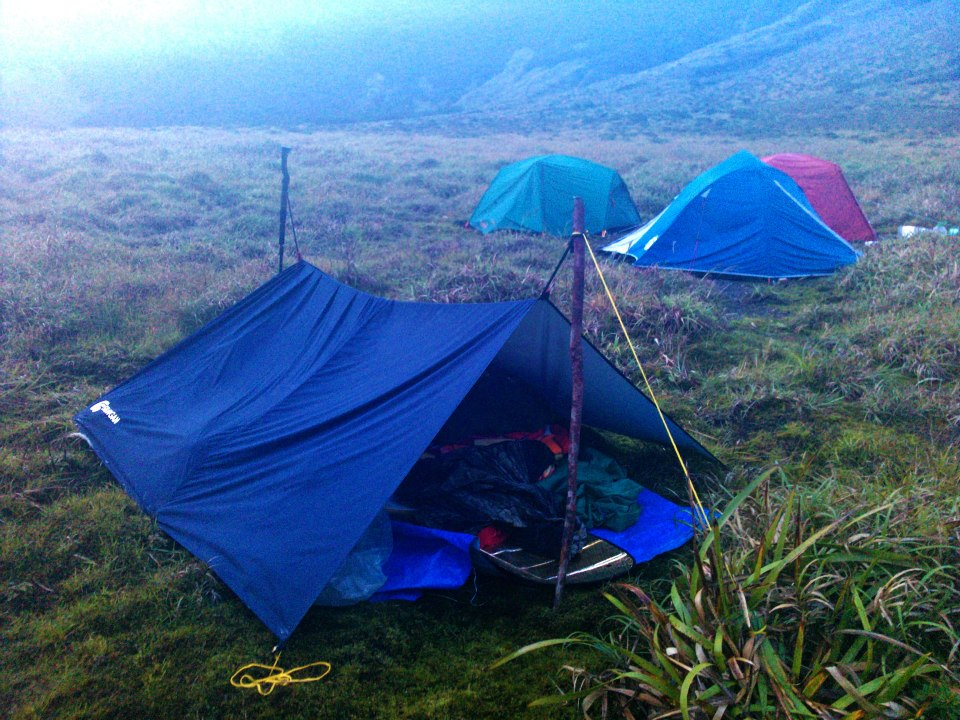 The A-frame tent of my friend Jigz Santiago at Margaja Valley in. Mt Kanlaon & LAGATAW: Buying a Tent