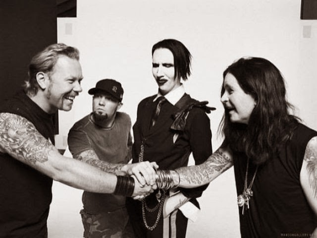 James Hetfield, Fred Durst, Marilyn Manson and Ozzy Osbourne